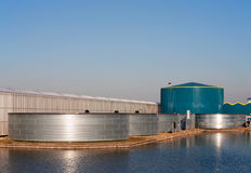 Geeenhouse water tank Royalty Free Stock Photo