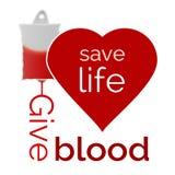 Geef bloed, sparen het leven Stock Afbeeldingen