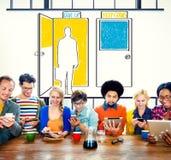 Geef Concept van de het Besluitkans van Levensonderhoud het Gaande Keuzen op Stock Foto's