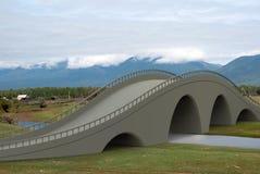 Geef de brug van de illustratiearchitectuur terug Stock Foto