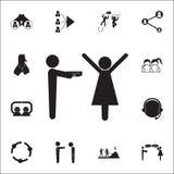 geef een gift aan uw geliefd pictogram Gesprek en Vriendschaps voor Web wordt geplaatst dat en mobiel pictogrammenalgemeen begrip stock illustratie