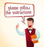 Geef een instructie vector illustratie