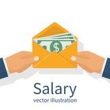 Geef een salaris Vector vector illustratie