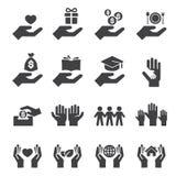 Geef en bescherm pictogram Stock Foto's