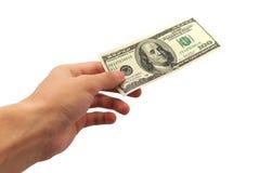 Geef geld royalty-vrije stock afbeeldingen