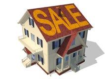 Geef huisbuitenkant (Verkoop) terug vector illustratie