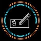 Geef Kaart uit - creditcard of bankcheque vector illustratie