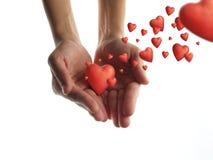 Geef liefde Stock Foto's