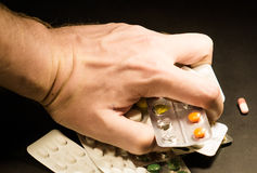 Geef mijn geneeskunde, Hypochonder Royalty-vrije Stock Foto