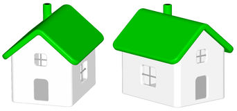 Geef terug: groen huis Royalty-vrije Stock Afbeelding
