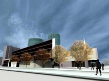 Geef terug: moderne gebouwen Royalty-vrije Stock Afbeeldingen