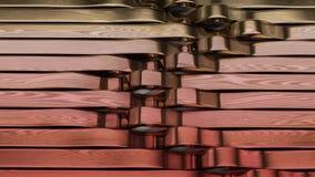 Geef van 3D Geometrische Abstracte Achtergrond terug stock video