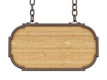 Geef van een houten teken terug stock illustratie