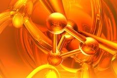 Geef van molecule terug Stock Afbeeldingen