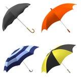Geef van paraplu's terug Stock Afbeelding