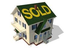 Geef (Verkochte) terug huisbuitenkant stock illustratie