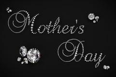 Geeft 3D diamant van de moeder` s Dag terug Stock Fotografie