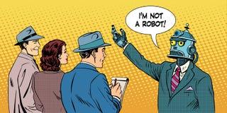 Geeft de robot presidentiële kandidaat gesprek Royalty-vrije Stock Foto's