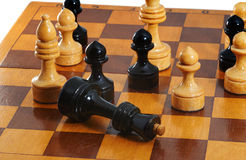 Geeft de schaak zwarte koning op Royalty-vrije Stock Afbeelding