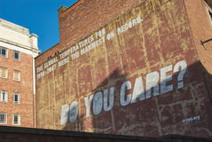 Geeft u muurgraffiti Stock Afbeeldingen