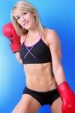 Geeigneter weiblicher Boxer Lizenzfreies Stockfoto