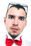 Σοβαρό πρόσωπο εργαστηρίων geek Στοκ εικόνες με δικαίωμα ελεύθερης χρήσης