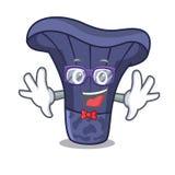 Geek actarius indigo mushroom character cartoon. Vector illustration stock illustration