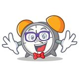 Geek alarm clock character cartoon. Vector illustration royalty free illustration