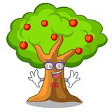 Geek apple tree full of isolated mascot. Vector illustration vector illustration
