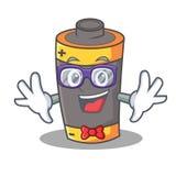 Geek battery character cartoon style. Vector illustration royalty free illustration
