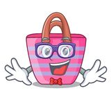 Geek Beach picnic bag on character shape. Vector illustration royalty free illustration