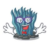 Geek blue seaweed isolated in the character. Vector illustration vector illustration