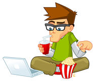 Geek Boy Cartoon Stock Photography
