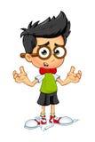 Geek Boy - Confused. A cartoon illustration of a Geeky little boy Royalty Free Stock Photo