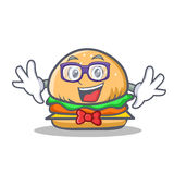 Geek burger character fast food Stock Image