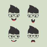 Geek cartoon character Royalty Free Stock Photography