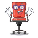 Geek cartoon desk chair in the office. Vector illustration royalty free illustration