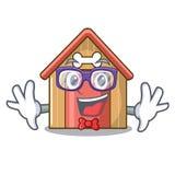 Geek cartoon dog house and bone isolated. Vector illustration vector illustration