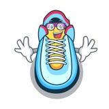 Geek cartoon pair of casual sneakers. Vector illustration vector illustration