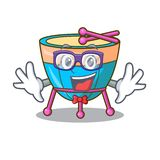 Geek cartoon timpani in the orchestra group. Vector illustration royalty free illustration