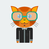 Geek Cat Royalty Free Stock Photography