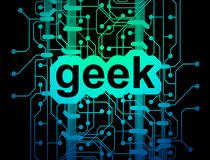 Geek circuit board Stock Photography