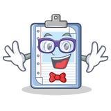 Geek clipboard character cartoon style. Vector illustration stock illustration