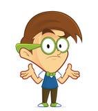 Geek confuso del nerd illustrazione vettoriale