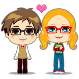 Geek Couple Stock Image