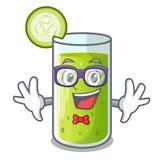 Geek cucumber juice in a cartoon glass. Vector illustration vector illustration