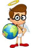 Geek Cupid Character Stock Photo