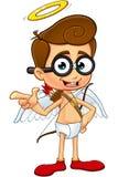Geek Cupid Character Stock Photos