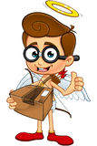 Geek Cupid Character Royalty Free Stock Photography