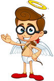 Geek Cupid Character Royalty Free Stock Photos